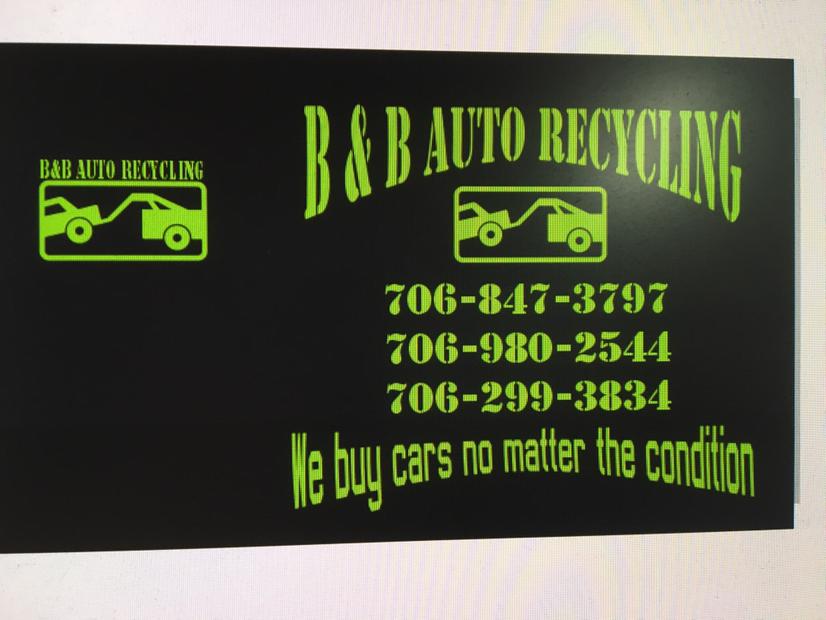 B B Auto Recycling logo