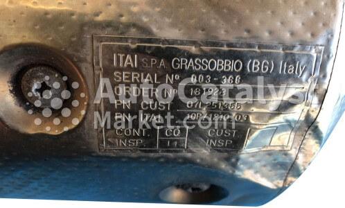 Catalyst converter 07L251355 — Photo № 2 | AutoCatalyst Market